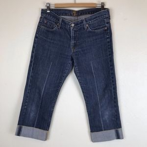 7 For All Mankind Crop & Cuff Capri, Size 30
